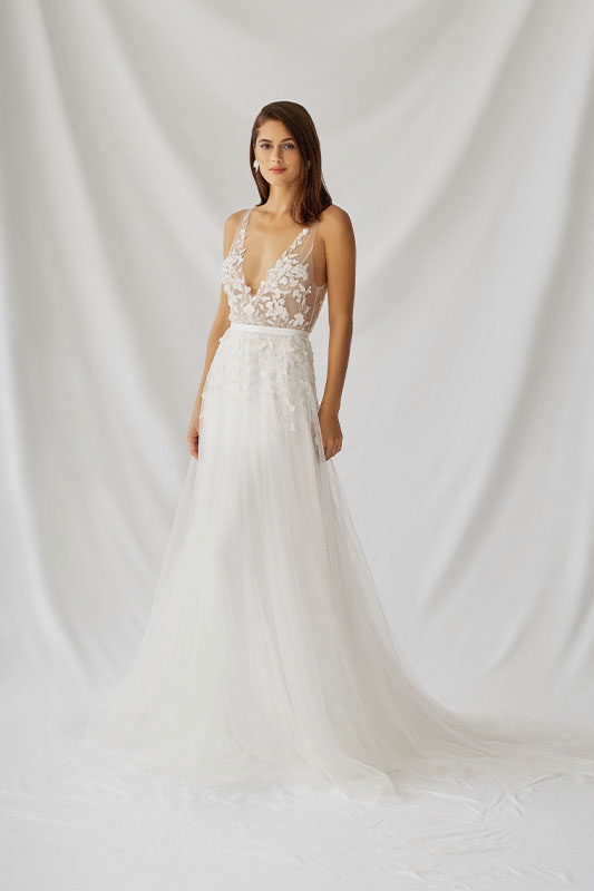 Alexandra Grecco Azalea Dress - White Satin Bridal Boutique Ottawa - Designer & Luxury Wedding Gown - Off the rack & custom order - Bridal Seamstress