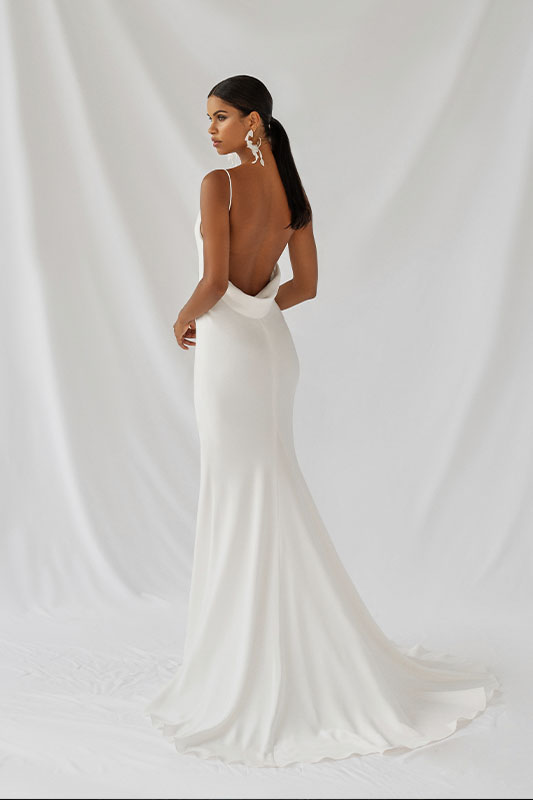 Alexandra Grecco Lotus Dress - White Satin Bridal Boutique Ottawa - Designer & Luxury Wedding Gown - Off the rack & custom order - Bridal Seamstress