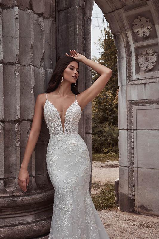 Calla Blanche 121104 Dress - White Satin Bridal Boutique Ottawa - Designer & Luxury Wedding Gown - Off the rack & custom order - Bridal Seamstress