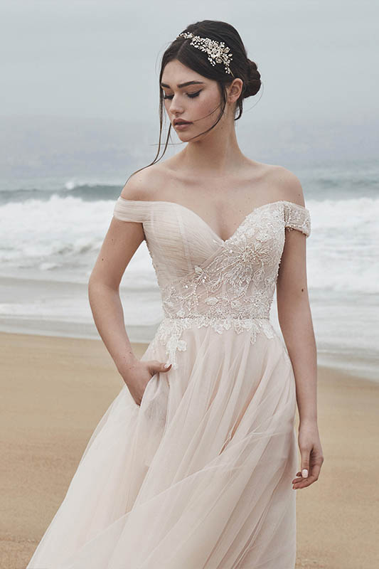 Calla Blanche L'amour Eleanor Dress - White Satin Bridal Boutique Ottawa - Designer & Luxury Wedding Gown - Off the rack & custom order - Bridal Seamstress