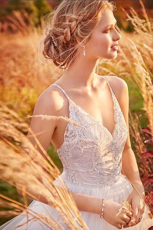 Jim Hjelm by Hayley Paige Dress 8610 - White Satin Bridal Boutique Ottawa - Designer & Luxury Wedding Gown - Off the rack & custom order - Bridal Seamstress