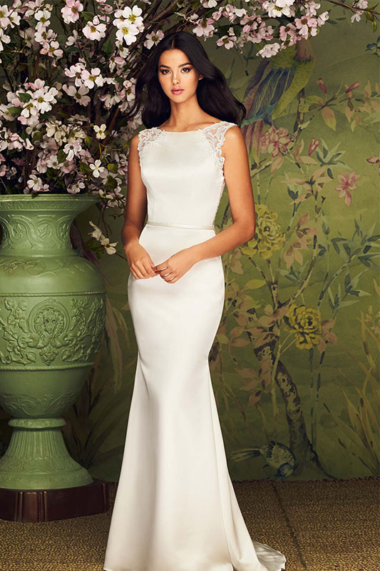 Paloma Blanca 4882 - White Satin Bridal Boutique Ottawa - Designer & Luxury Wedding Gown - Off the rack & custom order - Bridal Seamstress