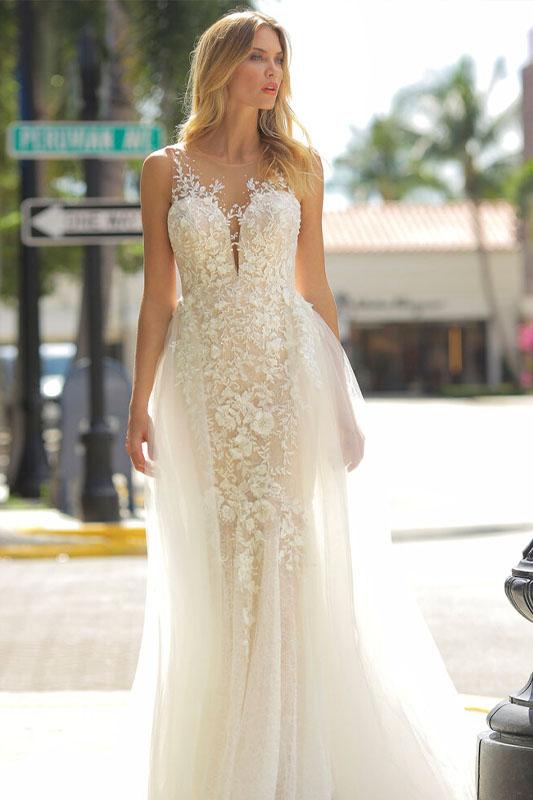 Randy Fenoli Astrid Dress - White Satin Bridal Boutique Ottawa - Designer & Luxury Wedding Gown - Off the rack & custom order - Bridal Seamstress