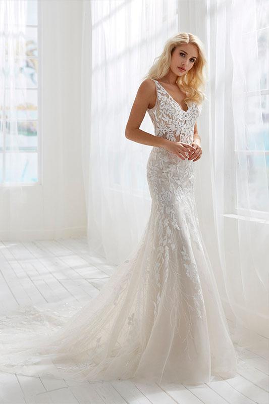 Randy Fenoli Braxton Dress - White Satin Bridal Boutique Ottawa - Designer & Luxury Wedding Gown - Off the rack & custom order - Bridal Seamstress