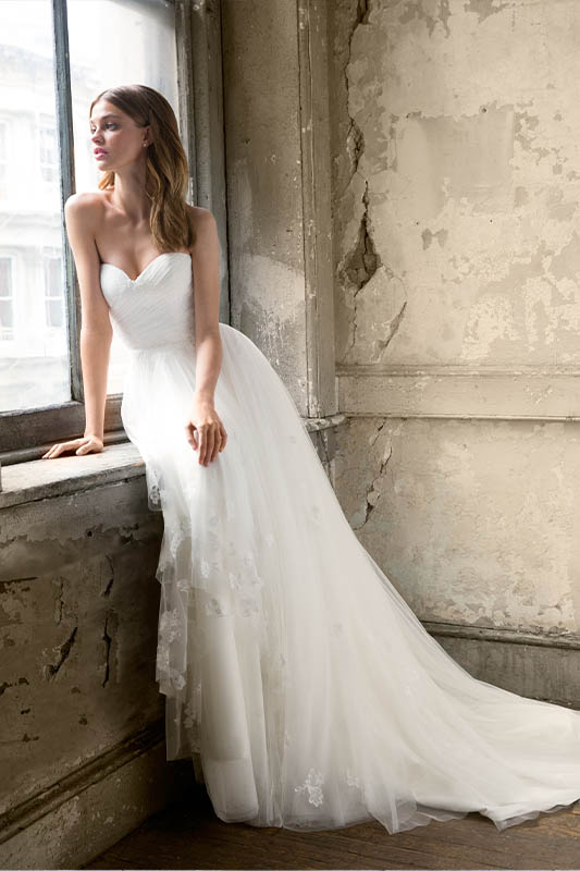 Ti Adora Gemma Dress - White Satin Bridal Boutique Ottawa - Designer & Luxury Wedding Gown - Off the rack & custom order - Bridal Seamstress
