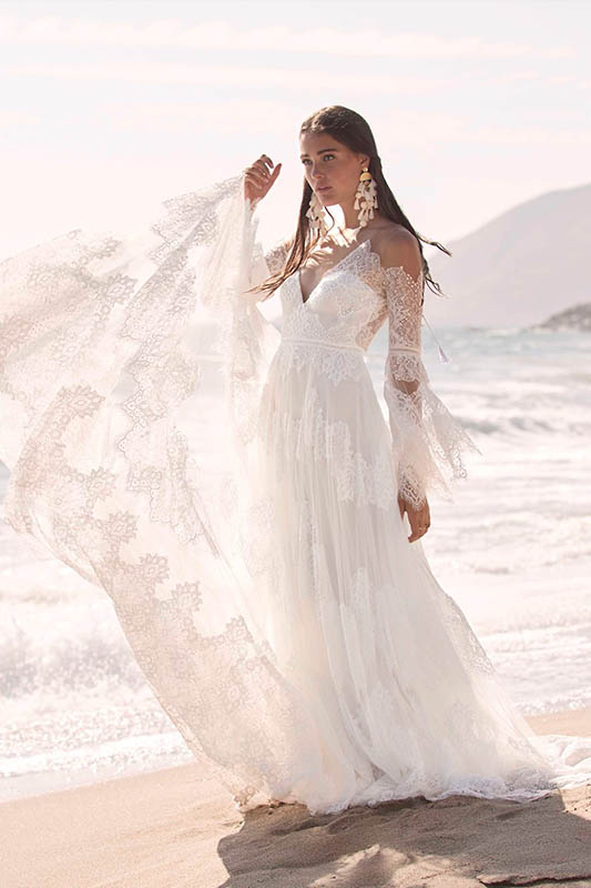 Marcall Dress by Willowby by Watters - White Satin Bridal Boutique Ottawa - Designer & Luxury Wedding Gown - Off the rack & custom order - Bridal Seamstress