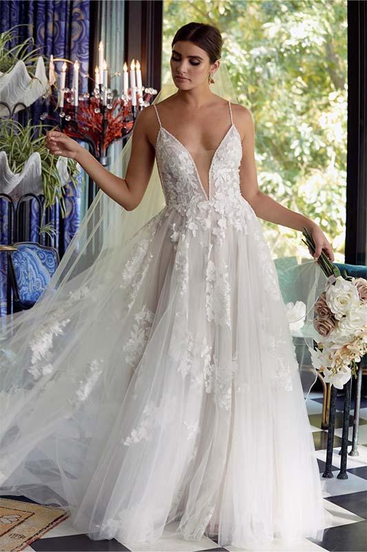 Wtoo by Watters Joelle Dress - White Satin Bridal Boutique Ottawa - Designer & Luxury Wedding Gown - Off the rack & custom order - Bridal Seamstress