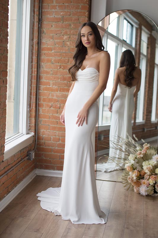 Wtoo by Watters Rogers Dress - White Satin Bridal Boutique Ottawa - Designer & Luxury Wedding Gown - Off the rack & custom order - Bridal Seamstress