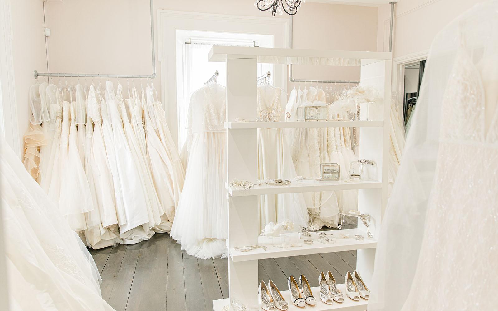 Stone House Dove Room - White Satin Bridal Boutique Ottawa - Designer & Luxury Wedding Gown - Off the rack & custom order - Bridal Seamstress