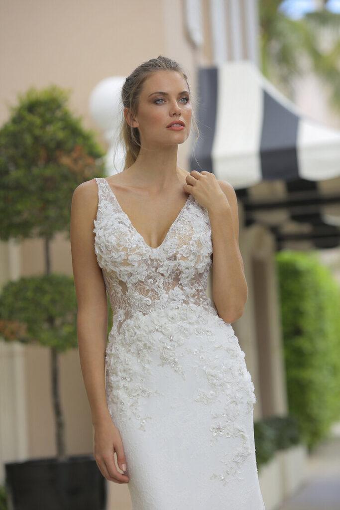 Randy Fenoli Andrea Dress back - White Satin Bridal Boutique Ottawa - Designer & Luxury Wedding Gown - Off the rack & custom order - Bridal Seamstress