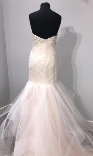 Back Aurora Hayley Paige - White Satin Bridal Boutique Ottawa - Designer & Luxury Wedding Gown - Off the rack & custom order - Bridal Seamstress