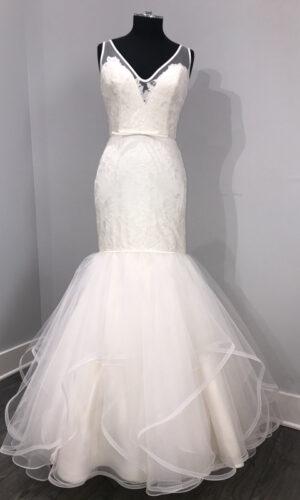 Brooke Front Hayley Paige - White Satin Bridal Boutique Ottawa - Designer & Luxury Wedding Gown - Off the rack & custom order - Bridal Seamstress