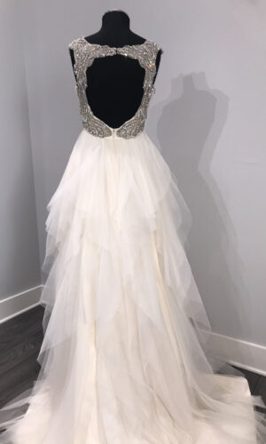 Carrie Back Hayley Paige - White Satin Bridal Boutique Ottawa - Designer & Luxury Wedding Gown - Off the rack & custom order - Bridal Seamstress