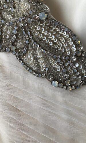 Emeryn Close Up Hayley Paige - White Satin Bridal Boutique Ottawa - Designer & Luxury Wedding Gown - Off the rack & custom order - Bridal Seamstress