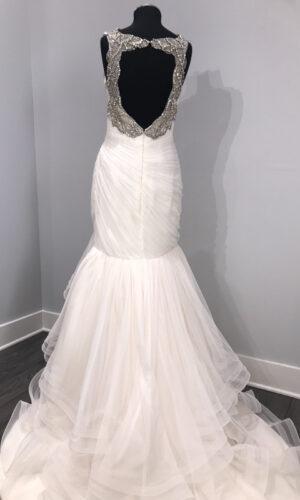 Emeryn Back Hayley Paige - White Satin Bridal Boutique Ottawa - Designer & Luxury Wedding Gown - Off the rack & custom order - Bridal Seamstress