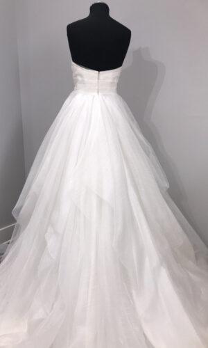 Esther Back Hayley Paige - White Satin Bridal Boutique Ottawa - Designer & Luxury Wedding Gown - Off the rack & custom order - Bridal Seamstress