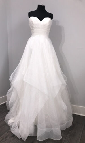 Esther Front Hayley Paige - White Satin Bridal Boutique Ottawa - Designer & Luxury Wedding Gown - Off the rack & custom order - Bridal Seamstress