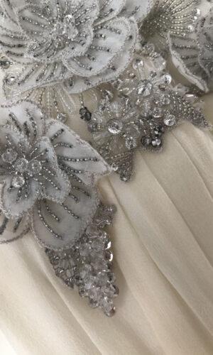 Hattie Close Up Hayley Paige - White Satin Bridal Boutique Ottawa - Designer & Luxury Wedding Gown - Off the rack & custom order - Bridal Seamstress