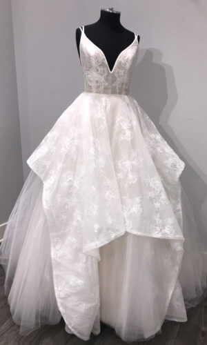 Kellan Front Hayley Paige - White Satin Bridal Boutique Ottawa - Designer & Luxury Wedding Gown - Off the rack & custom order - Bridal Seamstress