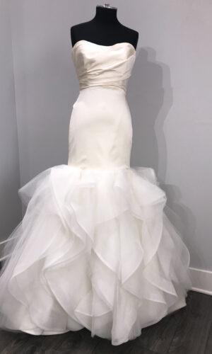 Leighton Front Hayley Paige - White Satin Bridal Boutique Ottawa - Designer & Luxury Wedding Gown - Off the rack & custom order - Bridal Seamstress