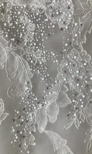 Mara Close Up Hayley Paige - White Satin Bridal Boutique Ottawa - Designer & Luxury Wedding Gown - Off the rack & custom order - Bridal Seamstress