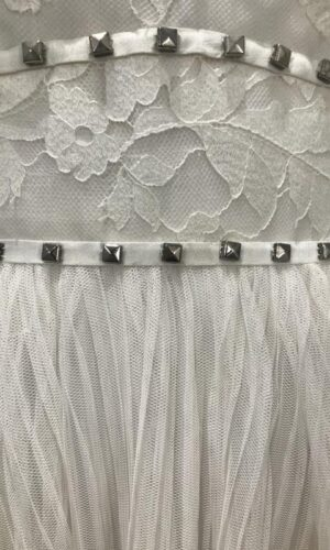 Megan Close Up Hayley Paige - White Satin Bridal Boutique Ottawa - Designer & Luxury Wedding Gown - Off the rack & custom order - Bridal Seamstress