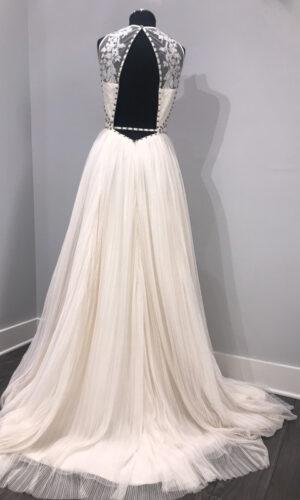 Megan Back Hayley Paige - White Satin Bridal Boutique Ottawa - Designer & Luxury Wedding Gown - Off the rack & custom order - Bridal Seamstress