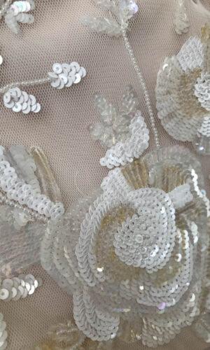 Nicoletta Close Up Hayley Paige - White Satin Bridal Boutique Ottawa - Designer & Luxury Wedding Gown - Off the rack & custom order - Bridal Seamstress