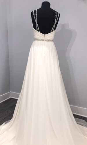 Nina Back Hayley Paige - White Satin Bridal Boutique Ottawa - Designer & Luxury Wedding Gown - Off the rack & custom order - Bridal Seamstress