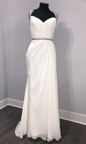 Portia Front Hayley Paige - White Satin Bridal Boutique Ottawa - Designer & Luxury Wedding Gown - Off the rack & custom order - Bridal Seamstress