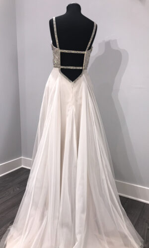 Back Roxanne Hayley Paige - White Satin Bridal Boutique Ottawa - Designer & Luxury Wedding Gown - Off the rack & custom order - Bridal Seamstress