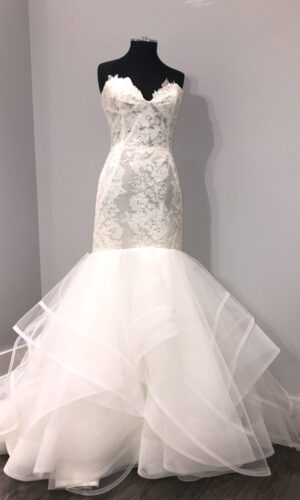 Front Hayley Paige Tanner - White Satin Bridal Boutique Ottawa - Designer & Luxury Wedding Gown - Off the rack & custom order - Bridal Seamstress