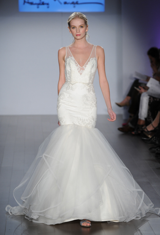 Front Brooke Hayley Paige - White Satin Bridal Boutique Ottawa - Designer & Luxury Wedding Gown - Off the rack & custom order - Bridal Seamstress