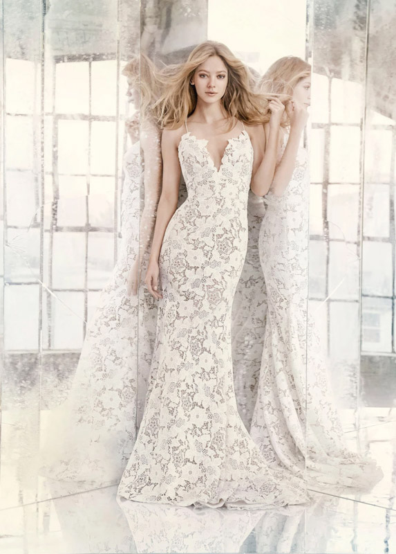 Front Cali Hayley Paige - White Satin Bridal Boutique Ottawa - Designer & Luxury Wedding Gown - Off the rack & custom order - Bridal Seamstress