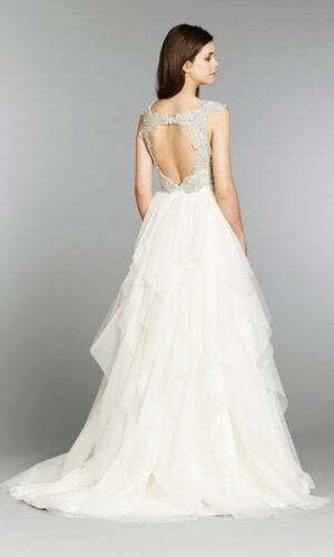 Back Carrie Hayley Paige - White Satin Bridal Boutique Ottawa - Designer & Luxury Wedding Gown - Off the rack & custom order - Bridal Seamstress