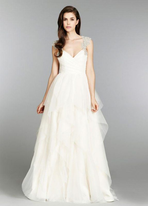 Front Carrie Hayley Paige - White Satin Bridal Boutique Ottawa - Designer & Luxury Wedding Gown - Off the rack & custom order - Bridal Seamstress
