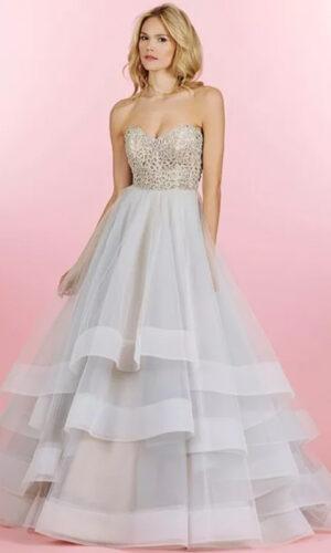 Josie Front Hayley Paige - White Satin Bridal Boutique Ottawa - Designer & Luxury Wedding Gown - Off the rack & custom order - Bridal Seamstress