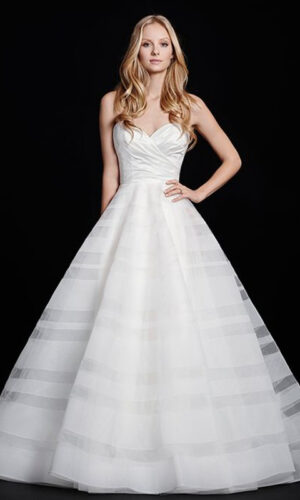 Lily Front Hayley Paige - White Satin Bridal Boutique Ottawa - Designer & Luxury Wedding Gown - Off the rack & custom order - Bridal Seamstress