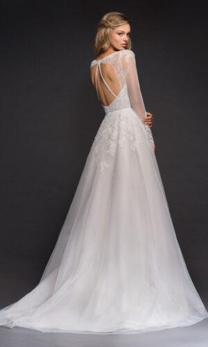 Mara Back Hayley Paige - White Satin Bridal Boutique Ottawa - Designer & Luxury Wedding Gown - Off the rack & custom order - Bridal Seamstress