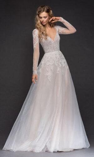 Mara Front Hayley Paige - White Satin Bridal Boutique Ottawa - Designer & Luxury Wedding Gown - Off the rack & custom order - Bridal Seamstress