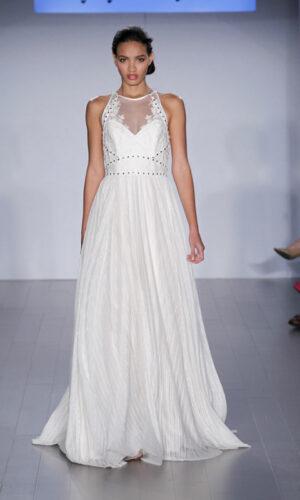 Megan Front Hayley Paige - White Satin Bridal Boutique Ottawa - Designer & Luxury Wedding Gown - Off the rack & custom order - Bridal Seamstress