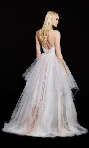 Nicoletta back Hayley Paige - White Satin Bridal Boutique Ottawa - Designer & Luxury Wedding Gown - Off the rack & custom order - Bridal Seamstress