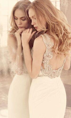 Portia Back Hayley Paige - White Satin Bridal Boutique Ottawa - Designer & Luxury Wedding Gown - Off the rack & custom order - Bridal Seamstress