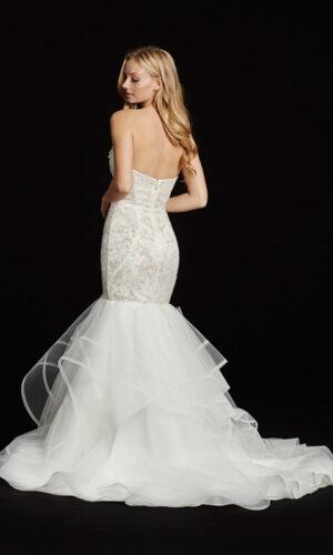 Back Hayley Paige Tanner - White Satin Bridal Boutique Ottawa - Designer & Luxury Wedding Gown - Off the rack & custom order - Bridal Seamstress