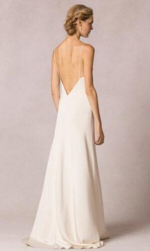 Celine Back by Jenny Yoo - White Satin Bridal Boutique Ottawa - Designer & Luxury Wedding Gown - Off the rack & custom order - Bridal Seamstress