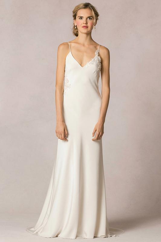Celine Front by Jenny Yoo - White Satin Bridal Boutique Ottawa - Designer & Luxury Wedding Gown - Off the rack & custom order - Bridal Seamstress
