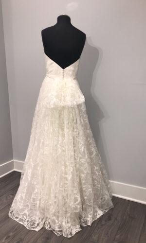 Back Leona by Jenny Yoo - White Satin Bridal Boutique Ottawa - Designer & Luxury Wedding Gown - Off the rack & custom order - Bridal Seamstress