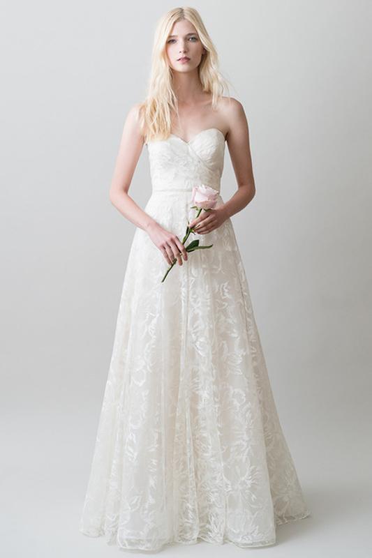Front Leona by Jenny Yoo - White Satin Bridal Boutique Ottawa - Designer & Luxury Wedding Gown - Off the rack & custom order - Bridal Seamstress