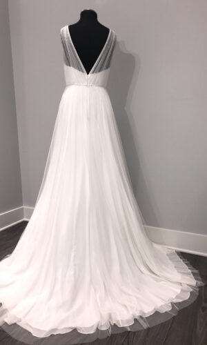 Back Magnolia by Jenny Yoo - White Satin Bridal Boutique Ottawa - Designer & Luxury Wedding Gown - Off the rack & custom order - Bridal Seamstress