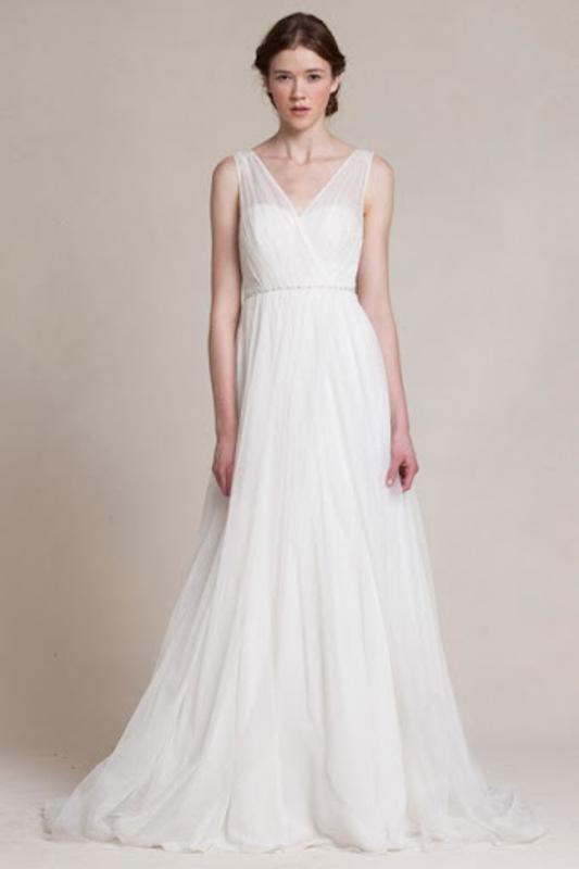 Front Magnolia by Jenny Yoo - White Satin Bridal Boutique Ottawa - Designer & Luxury Wedding Gown - Off the rack & custom order - Bridal Seamstress